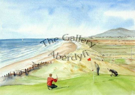 Golf 12th Green, Aberdyfi Golf Course